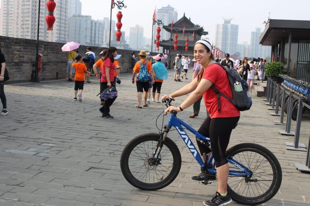 riding-a-bike-in-china with Kara Leckinger