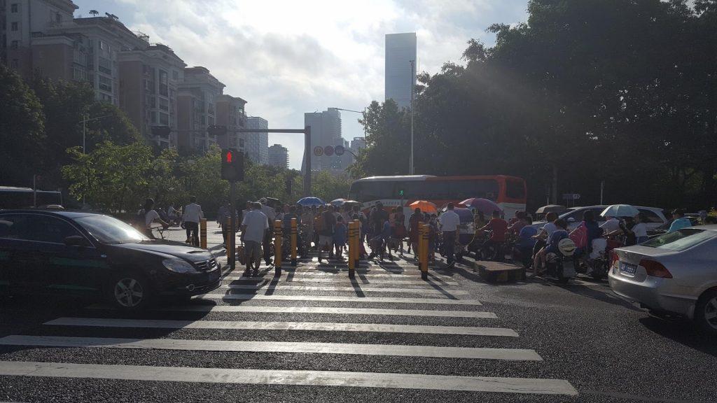 Zebra Crossing in Shenzhen