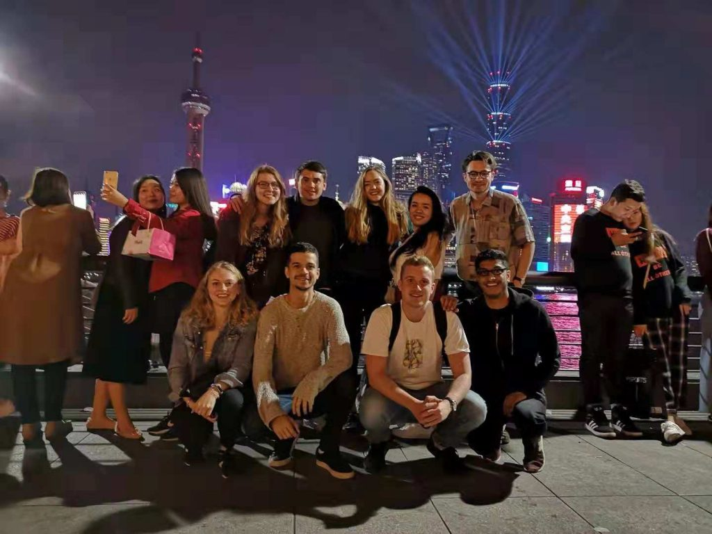 Hollie and the Generation UK interns visit the Bund in Shanghai