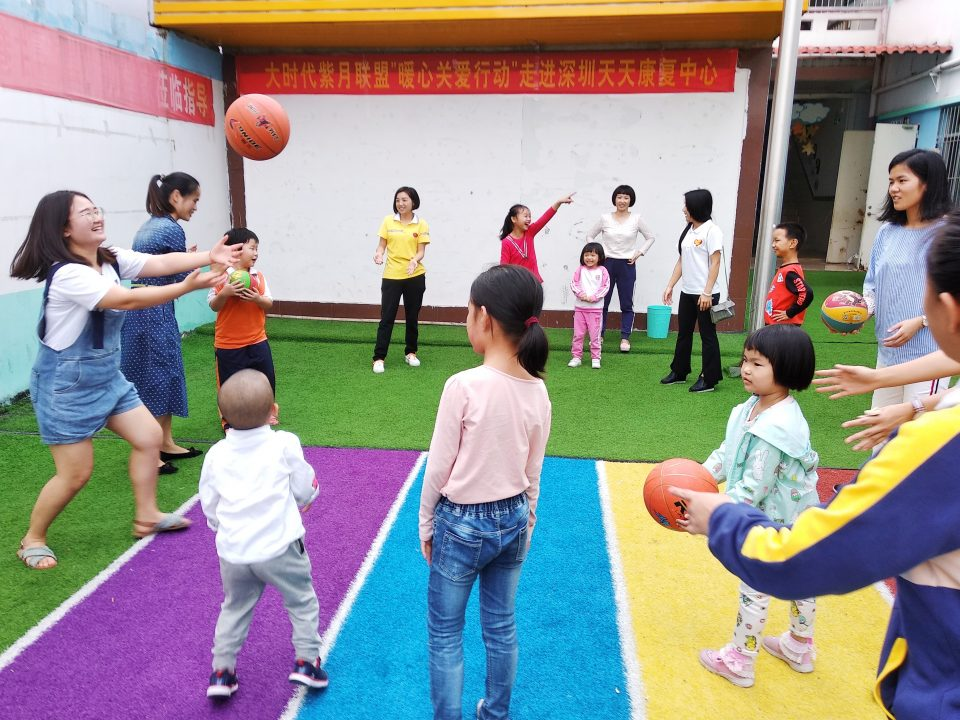 SHenzhen Team help out at a school