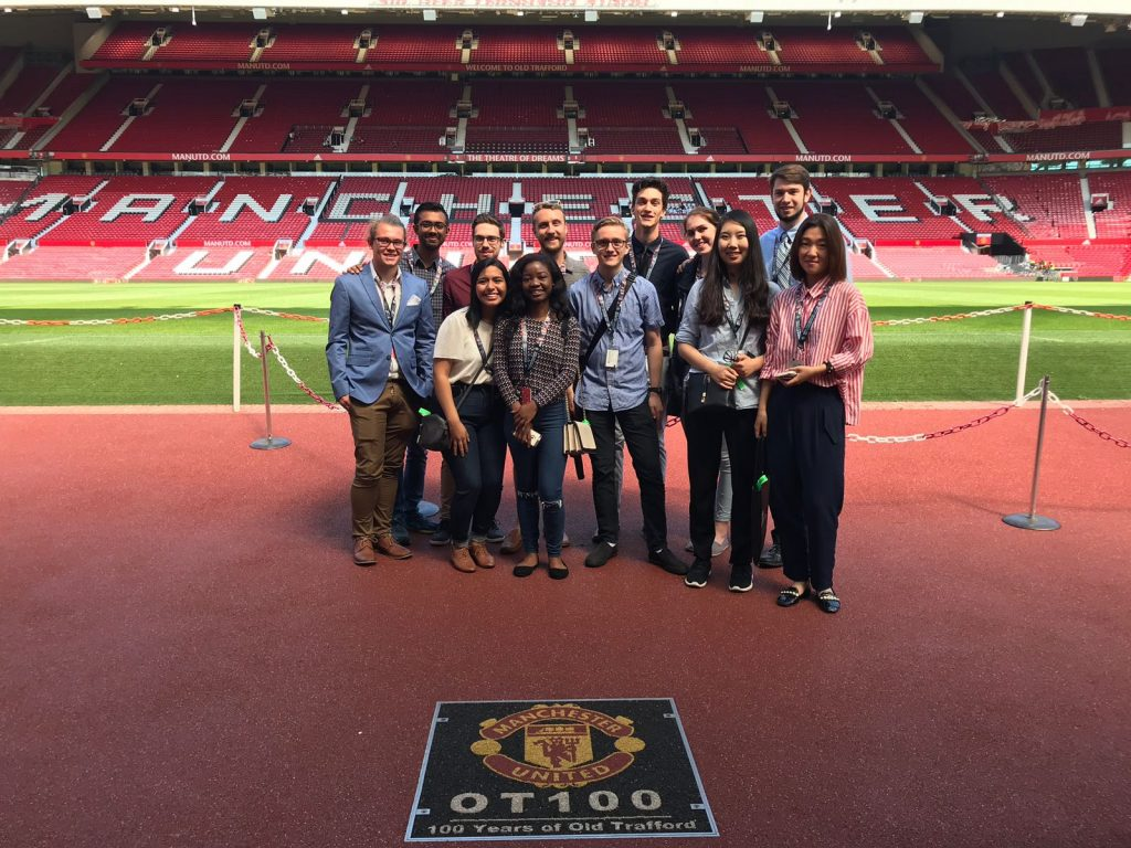 CRCC Asia Manchester interns visit the Manchester United Old Trafford football stadium