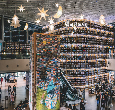 Things to do in Seoul, South Korea - Starfield Library in Gangnam