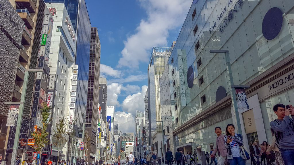 Interning in Japan ginza