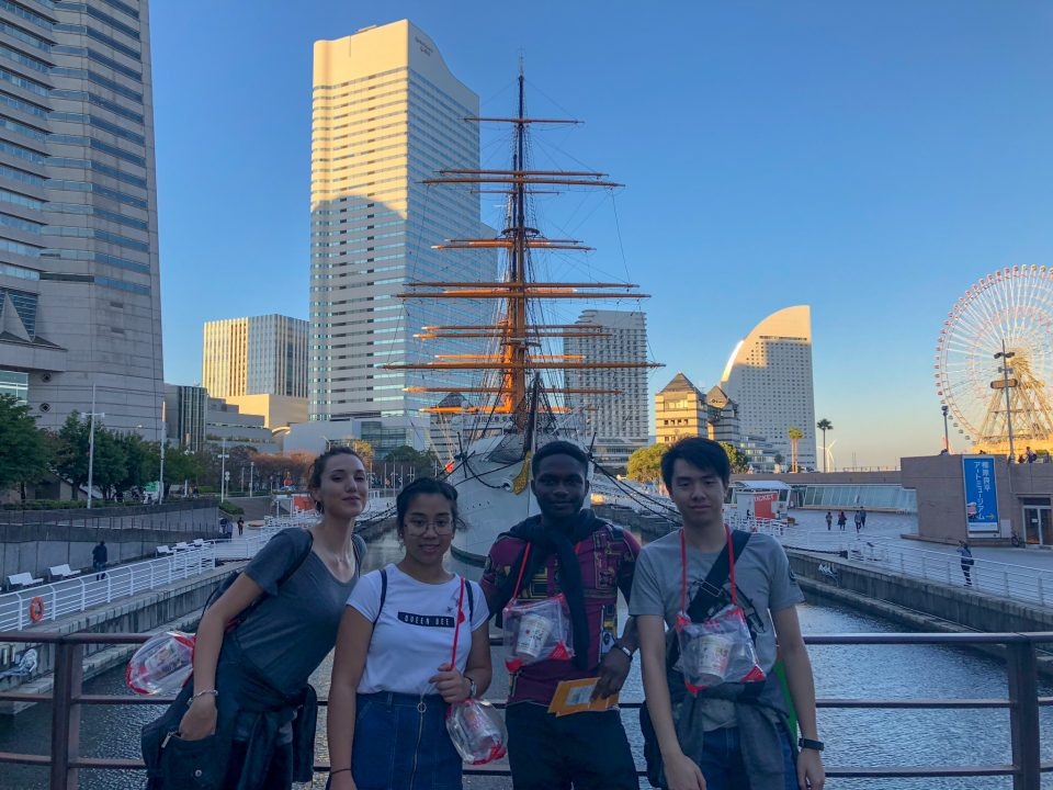 what to do when interning in Japan. Four-internship-friends-in-Japan-yokohama