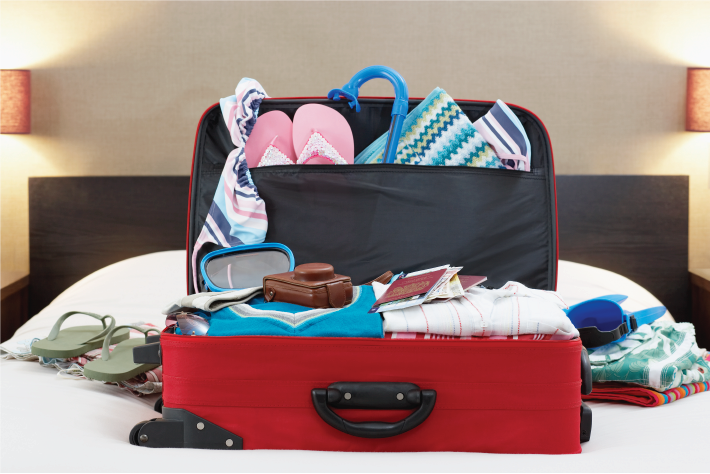 How to prepare for an internship packing suitcase