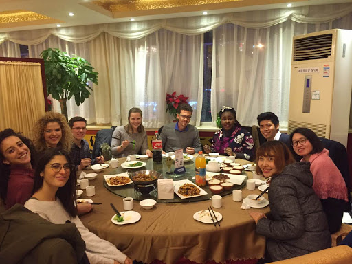 Internship Program Abroad Benefits CRCC Asia Group Dinner