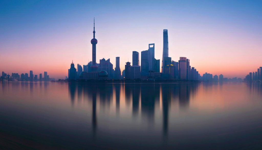 Shanghai at dusk - summer internships 2020
