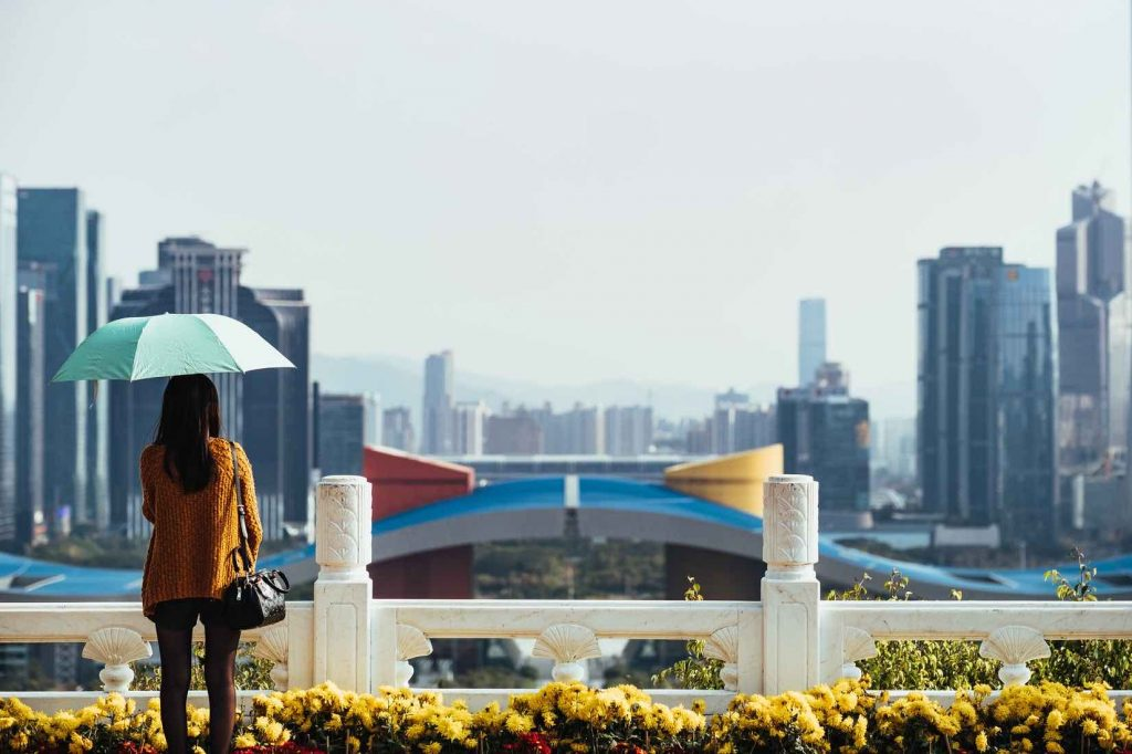 Shenzhen at day overlooking city -summer internships 2020