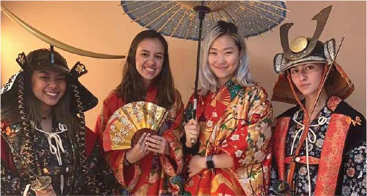 global internship program interns at the samurai museum