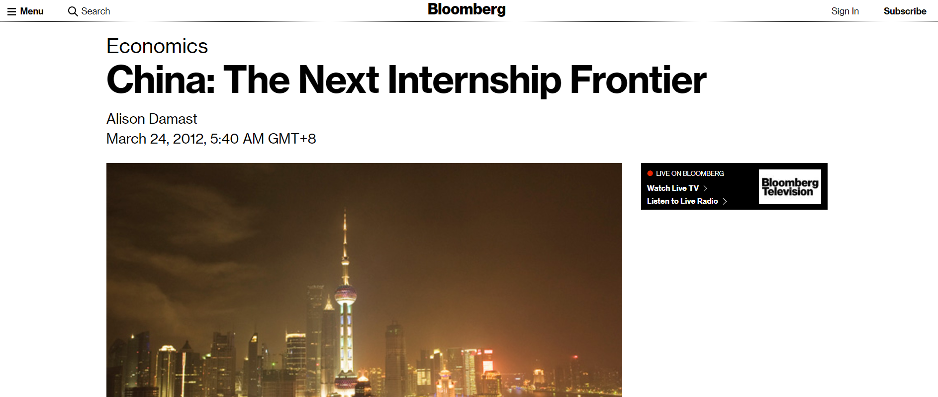 bloomberg article