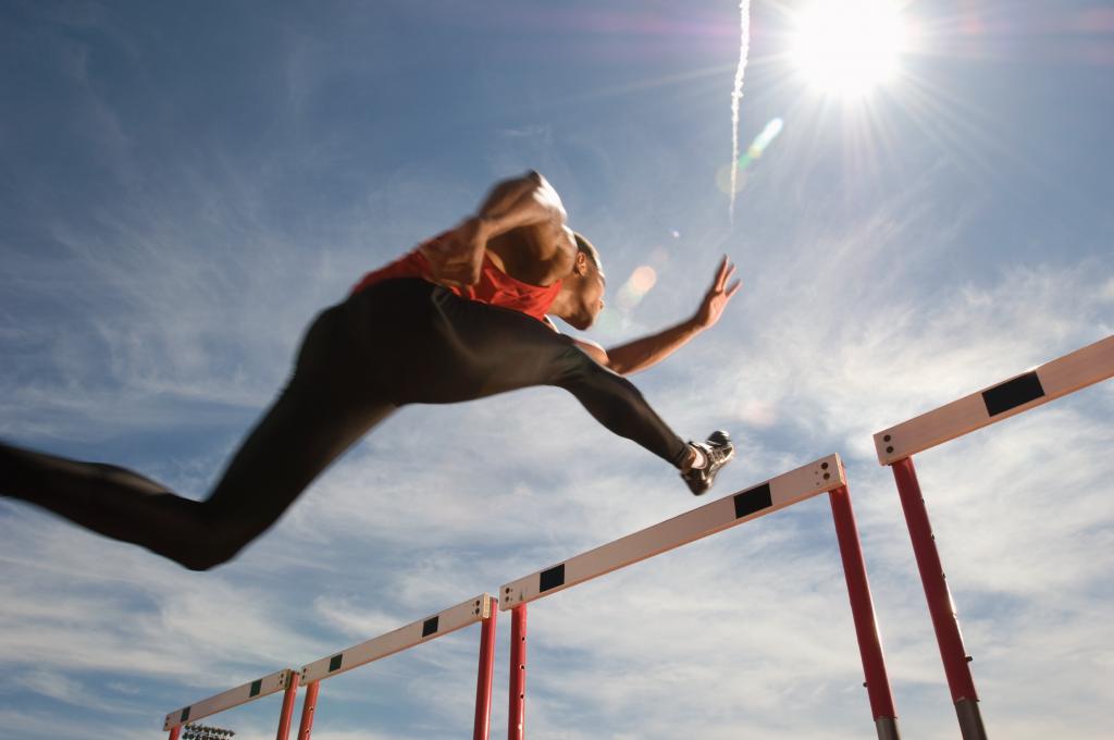 hurdles jump sunshine