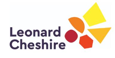 Leonard Cheshire Logo on CSR Page CRCC Asia