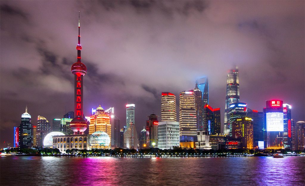 Internships in China - Shanghai night